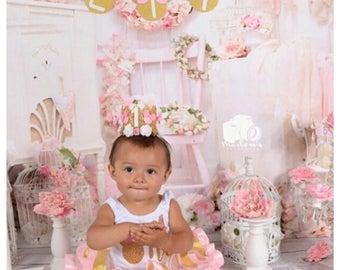 Minnie Mouse Birthday Crown, Pink Minnie Crown, Princess Crown, Lace Crown