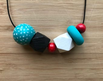 Handpainted Bead Necklace
