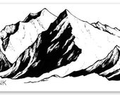 "Mission Mountain range sticker- 5"" x 1.57"" -  Weatherproof and durable, Outdoor, Travel sticker, Wanderlust, climbing and adventure- montana"