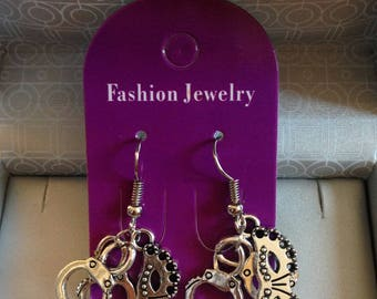 Earrings handcrafted special Valentine's or 50 shades of Grey