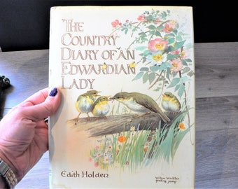 Vintage Country Diary of an Edwardian Lady Book - Botanical Nature Journal by Edith Holden