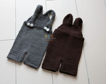 Photo prop baby boy knitted outfit twins