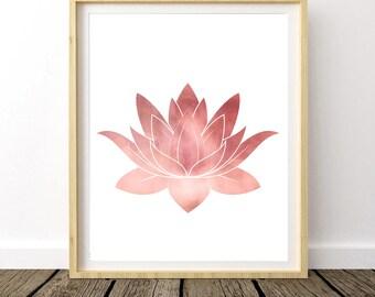 Lotus Flower Wall Art lotus flower art | etsy