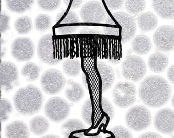 Leg Lamp Dxf | A Christmas Story Svg | .SVG .DXF .PNG | Commercial Use | Silhouette | Cricut | For Larger Cuts (A Lot To Weed)