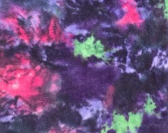 Fleece Big Dog Jacket -  Cosmic Tie Dye