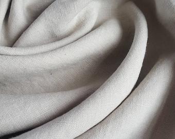 Washed Linen Dressmaking Fabric - Sand / Beige