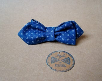 Bow tie blue patterned adjustable to order