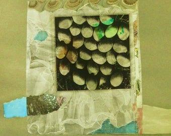 "Original Mixed Media Collage ""Nesting"""