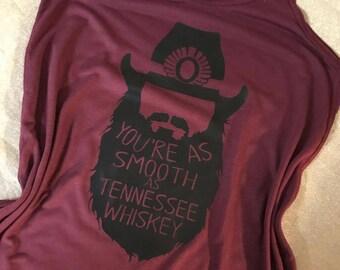 Chris Stapleton Tank -- Chris Stapleton Shirt -- Smooth as Tennessee Whiskey --Sweet as Strawberry wine shirt -- Chris Stapleton Shirt