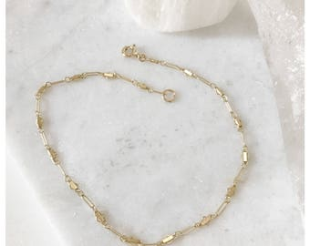 Cross Anklet Chain,Anklet Chain, Simple 14k Gold Filled Anklet, Gold Chain Anklet