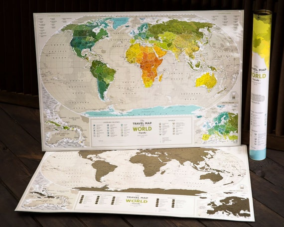 Scratchable Off World Map World Map Poster Where You Can - World map cities