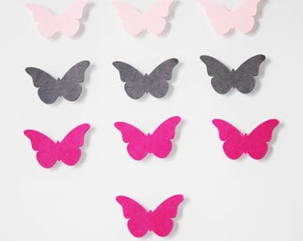 10 stickers butterflies made of cardstock paper 210g-4 cm