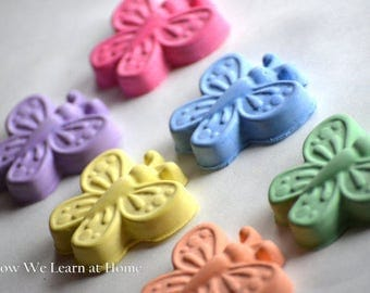 20 Butterfly Party Favor Thank You Sidewalk Chalk