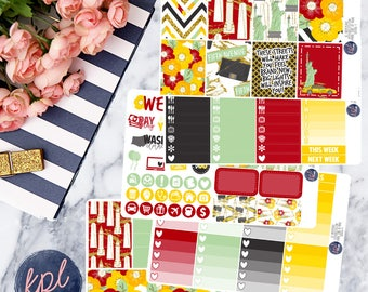 Empire State of Mind Weekly Planner Sticker Kit. Perfect for Erin Condren Life Planners! LK017
