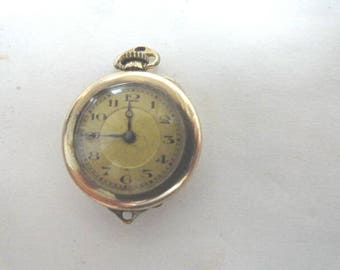 1920s Swiss Pocket Watch Small Size 24mm Gold Filled Case Running