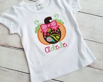 Pumpkin Shirt - Girls Halloween Shirt - Halloween Pumpkin Shirt - Fall Shirt - Pumpkin Patch Shirt - Custom Punpkin - Personalized Pumpkin