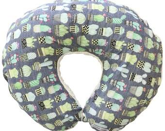 Jordan's Potted Cactus   Cactus Nursing Pillow Cover