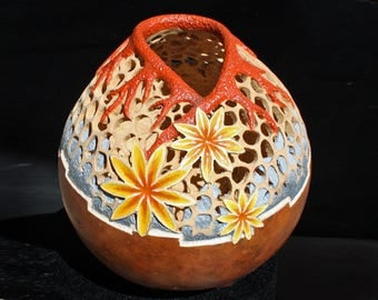 Enchanted, Carved Australian Gourd Art at its best, By G>funk Art
