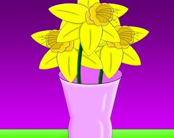 Daffodils Picture 1# 8x10 size