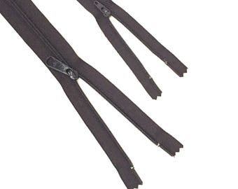 """YKK Zipper / DARK GRAY Zipper / Dress Zipper / 16"""" Long Pull Zipper / 9"""" zipper / Long Pull Zipper / Handbag Zipper / Closed End Zipper"""