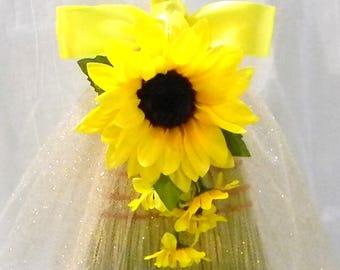 "Wedding Reception Party Jumping Broom Sunflower Yellow 38"""