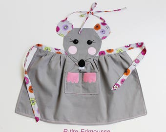 Apron mouse original & unique lined kids 3 to 6 years. To order.