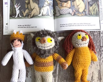 Crocheted Where the Wild Things Are plushie amigurumi toys dolls