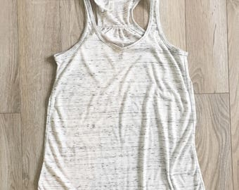 WOMENS X-LARGE White marble (you choose design) tank