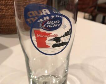 Minnesota bud light loon glass