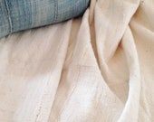 XL White Mud Cloth Fabric, Pre-washed, homespun unbleached Natural/Oyster color