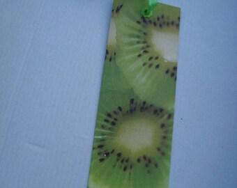 Bookmark paper kiwi fruit theme