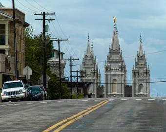 Salt Lake Temple From the Street