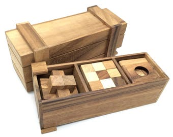 Wooden Toy : Pandora Wooden Puzzle Box Wooden Toys Brain Teaser - The Organic Natural Puzzle Game Play for Baby and Kids