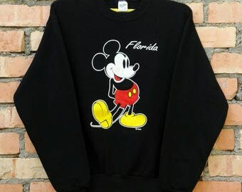 Rare!!! Vintage Mickey Mouse Florida 50/50 Pullover Sweatshirt Medium Size