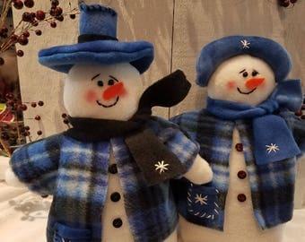 Snowman,Snow People,Snow Couple, Winter decor,Holiday decor,Christmas decor