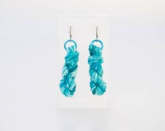 Wave Breaker Yarn Skien Earrings