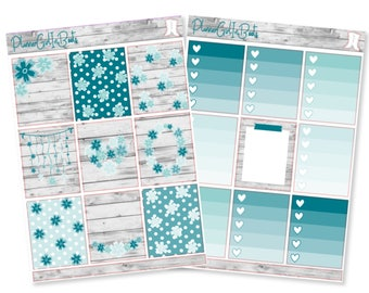 blue beauty planner sticker kit