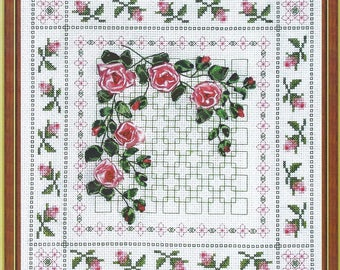 Counted Cross Stitch Kit Climbing Rose C-0554