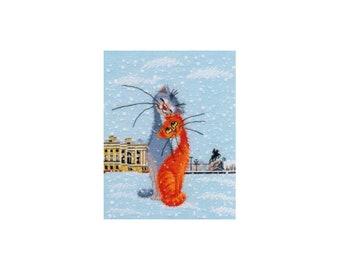 Cross stitch kit Little cats art. 1032