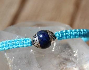 wire nylon with Nepalese Bead Bracelet