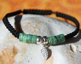 shamballa bracelet with African turquoise bead