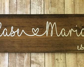 Custom Name Sign-Valentines Gift-Wedding Gift for Couple-Name Sign-Personalized Wood Sign