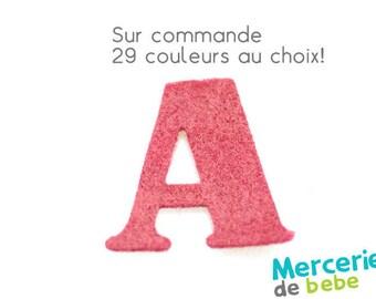 """Alphabet letter """"A"""" felt - 29 color choices - 2.5 cm x 2.5 cm"""