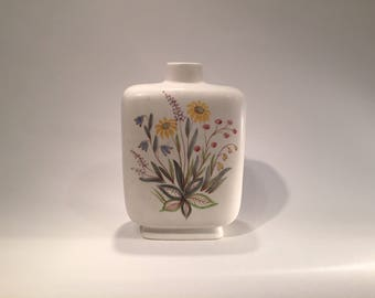 Rorstrand vase with flower motif, by Lars Thorén, Scandinavian Mid Century Modern, 1950s from Sweden