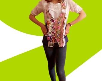 Batik and Halter jean jacket