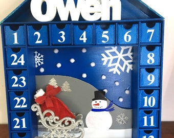 Blue Christmas Advent Calendar