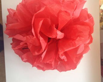 Red paper ball bucolic flower