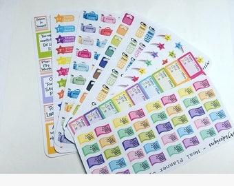 AJ6D415, Meal Planner Sticker Bundle, get any 4 meal planner sticker sheets for 5 euro.   Planner stickers.