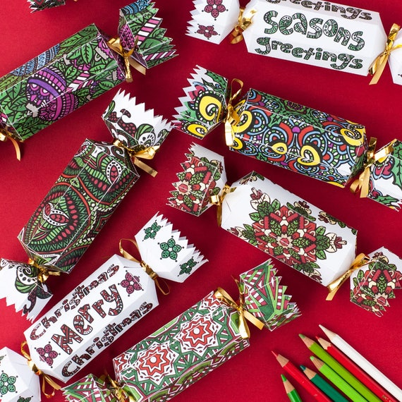 DIY Christmas Crackers Set Of 8 Christmas Cracker Templates