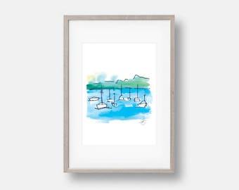 """Printable """"Balmoral Boats"""" Art"""